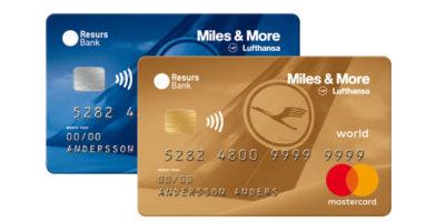 Miles & More erbjuder nu i samarbete med Resurs Bank ett Mastercard kreditkort